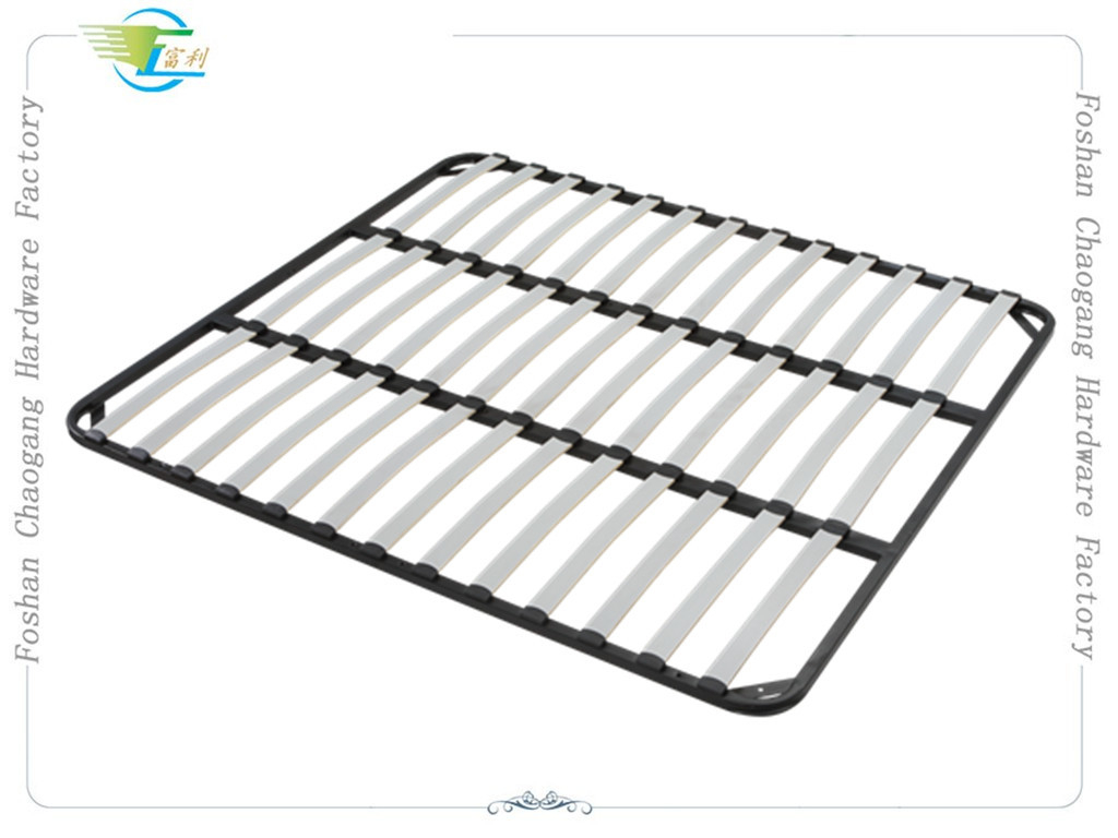 Welded Metal Slatted Bed Base Framework , Basic Wood Slat Bed Frame